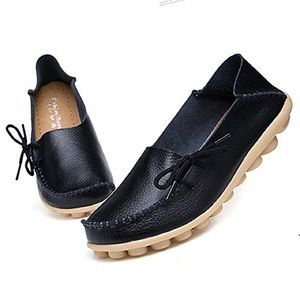 Shoes - Adibosy Leather Boat Loafers